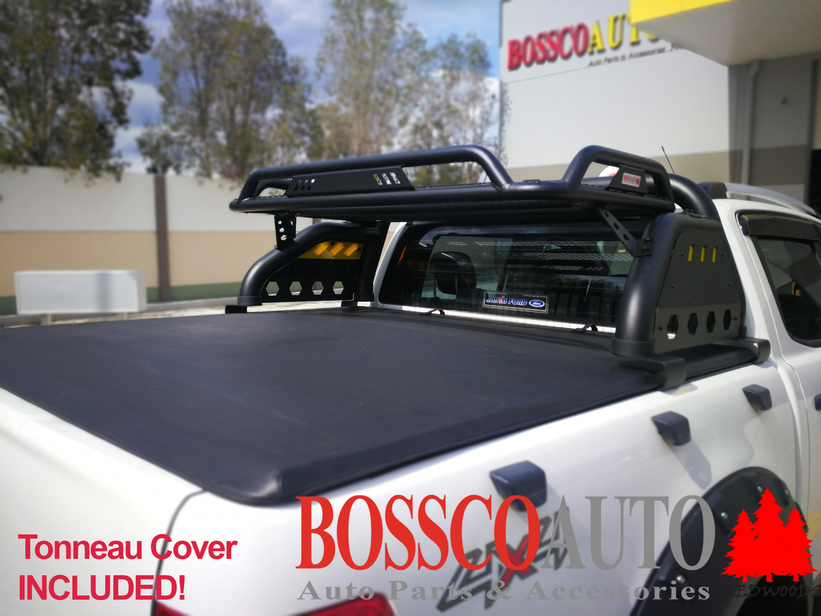 Loaded Sports Roll Bar With Soft Tonneau Cover Suitable For Ford