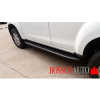 Black Steel Shark Side Steps Suitable for Isuzu MU-X 2012-2019