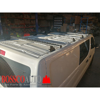 Set of 4 Black Heavy Duty Roof Racks Renault Trafic X82 Van 2017-20