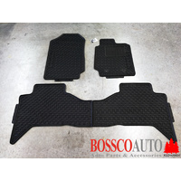All Weather Rubber Floor Mats suitable for Ford Ranger Double Cab 2012-2020