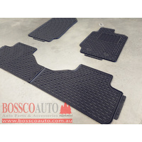 All Weather Rubber Floor Mats suitable for Ford Ranger PX|PX MKII Extended Cab 2012-2020