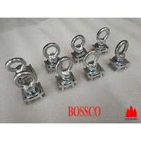 Set of 8 Eye Bolts For Heavy Duty Roof Racks