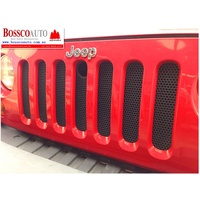 BLACK Mesh Grille Insert suitable for Jeep Wrangler JK 2007-2018