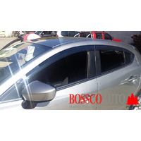 Weather Shields / Window Visors suitable for Mazda 3 Hatch & Sedan 2013-2018