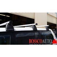 Silver ROOF RACKS (Low Roof) suitable for FORD ECONOVAN 1985-2005