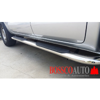 "4"" INCH OVAL BEND SIDE BARS/Side Steps suitable for Nissan Navara NP300/D23 2015-2019"