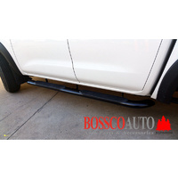 "4"" Black Side Steps suitable for Nissan Navara NP300/D23 2015-2019"