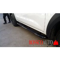 "Heavy Duty 4"" Oval Black Side Step Bars suitable for Toyota Hilux Workmate 2015-2020"