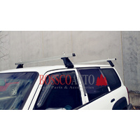 Heavy Duty Silver ROOF RACKS suitable for NISSAN PATROL GQ / GU / Y61 1988-2015
