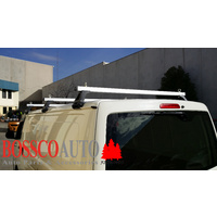 Heavy Duty Silver ROOF RACKS suitable for Toyota Hiace LWB 1983-2020 (Set of 3)