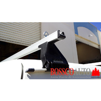 Silver Heavy Duty Roof Racks For Gutter Rail Mount Vehicles