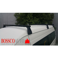 Black Heavy Duty Roof Racks Suitable for Toyota Hiace Commuter Bus SLWB 2005-2019
